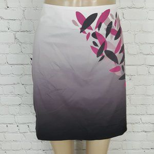 Lija Pencil Skirt Purple Leaf sz 8